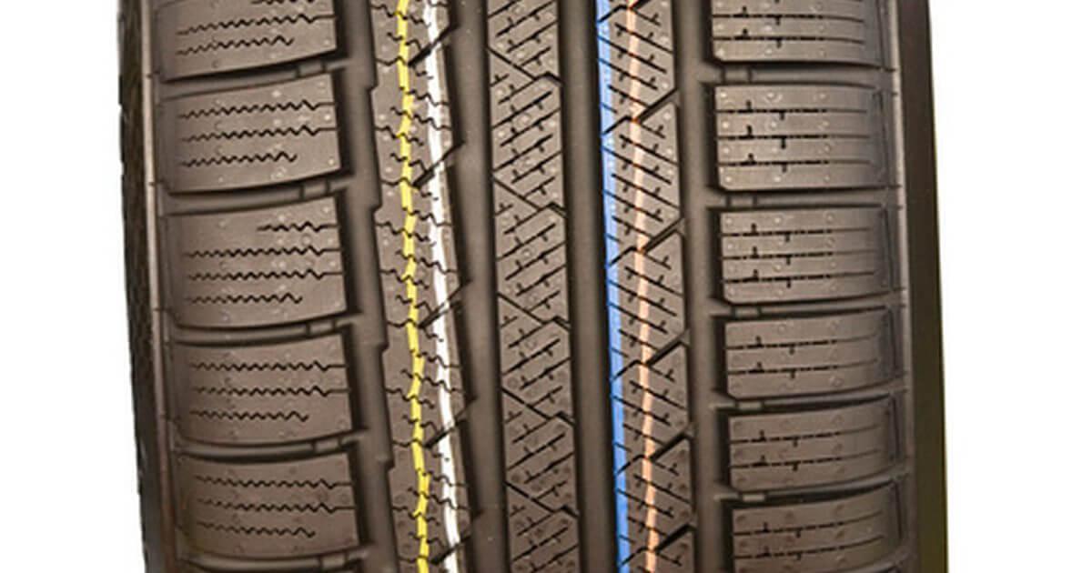 разноцветние линии на протекторе шины