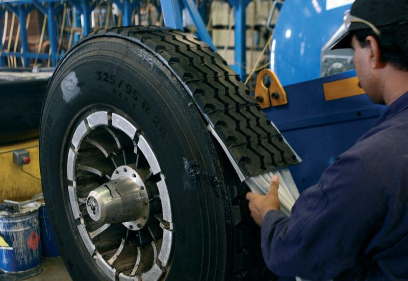 наварка протектора шины